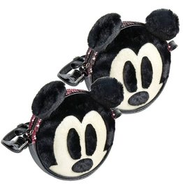 Disney Disney round shoulder bag Mickey with plush and sequins