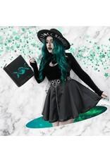 Restyle Gothic en Steampunk accessoires - Hoed met brede rand en Maanfasen - Moon Child