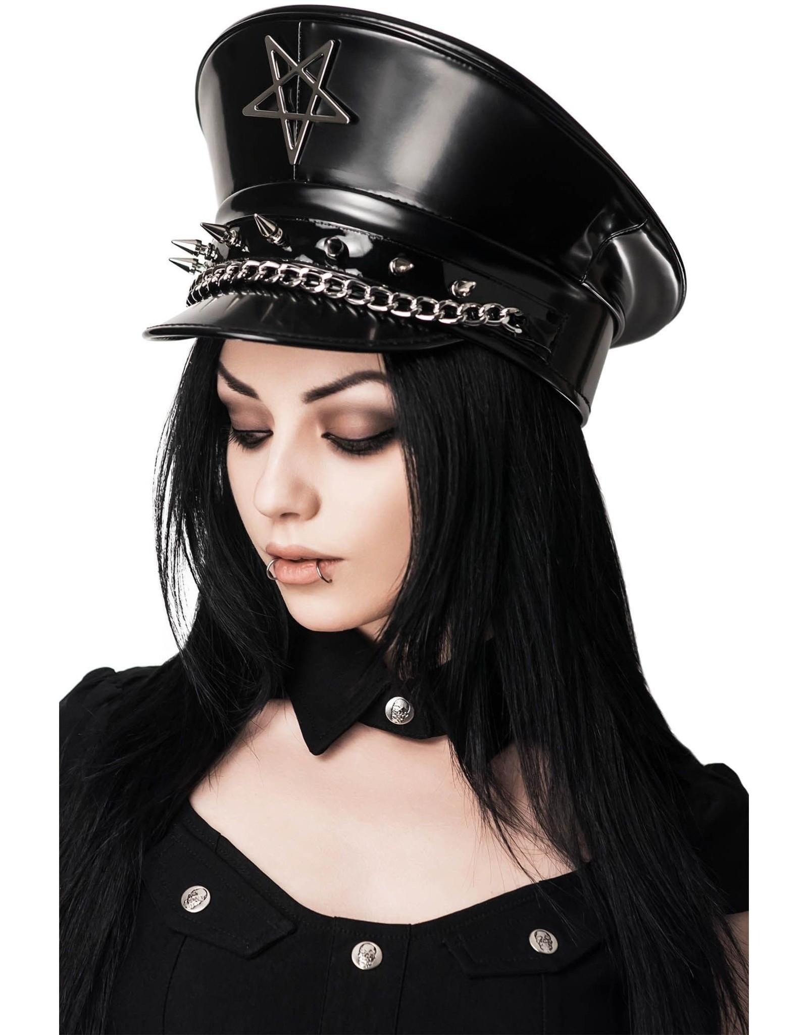 Killstar Gothic and Steampunk accessories -  Division SIXX Cap - KillStar