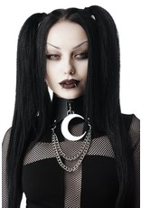 Killstar Gothic and Steampunk accessories - Killstar choker Moon Rawk with Crescent and Chains