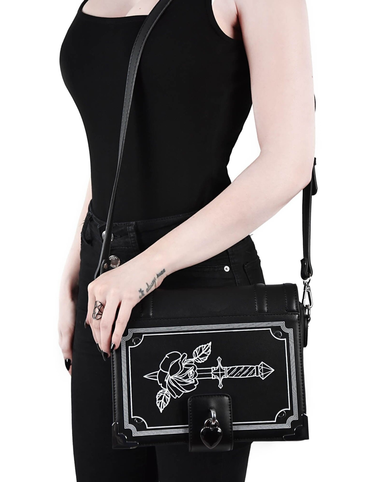 Killstar Gothic bags Steampunk bags - Killstar Rose Poen handbag