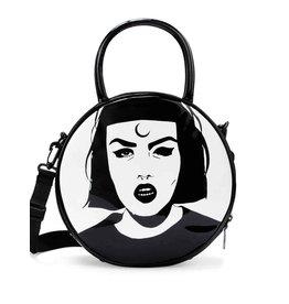 Killstar Killstar Minerva handbag face print round lacquer