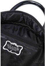 Killstar Gothic tassen Steampunk tassen - Killstar Minerva handtas gezicht opdruk rond lak