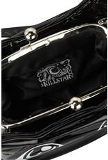 Killstar Gothic tassen Steampunk tassen - Killstar Meowgical handtas Kattenkop lak