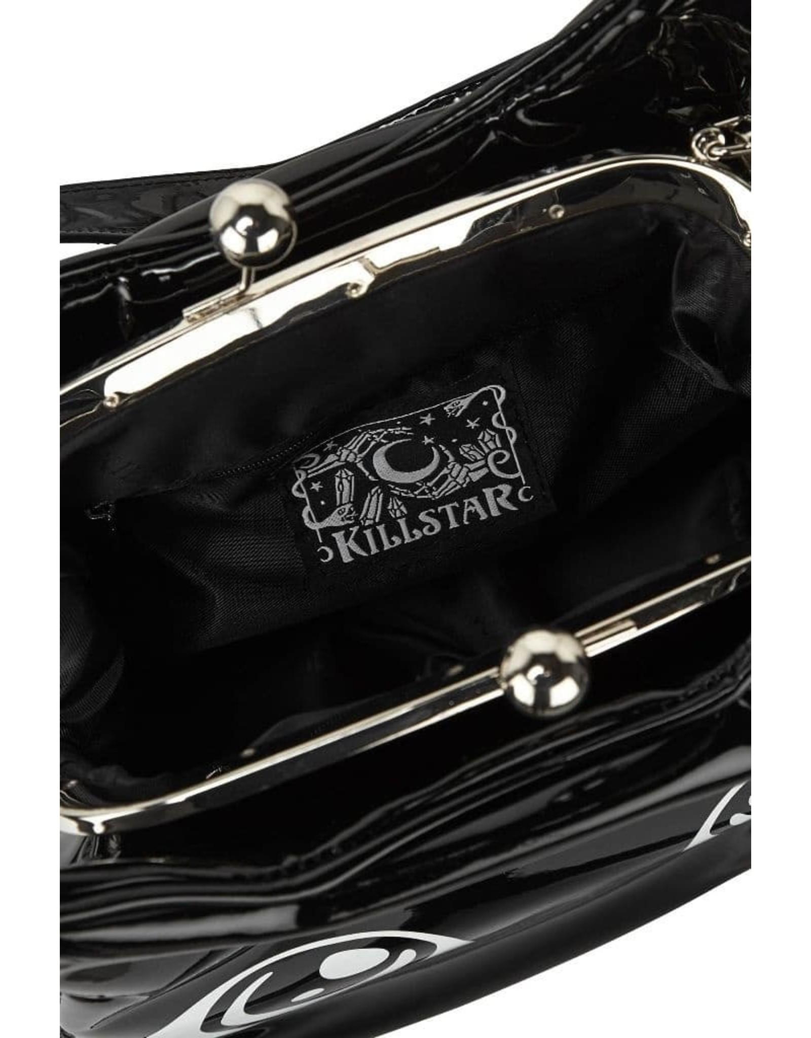 Killstar Gothic bags Steampunk bags - Killstar Meowgical handbag Cat's head lacquer