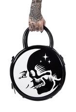 Killstar Gothic tassen Steampunk tassen - Killstar Luna Morte handtas rond lak