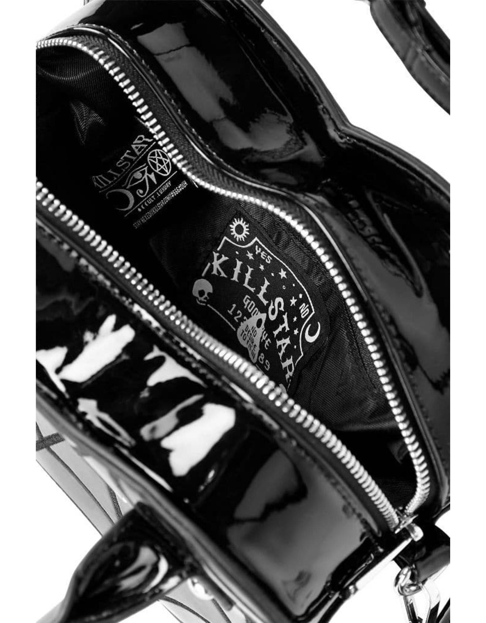 Killstar Gothic tassen Steampunk tassen - Killstar Lola Heart handtas vleermuis logo
