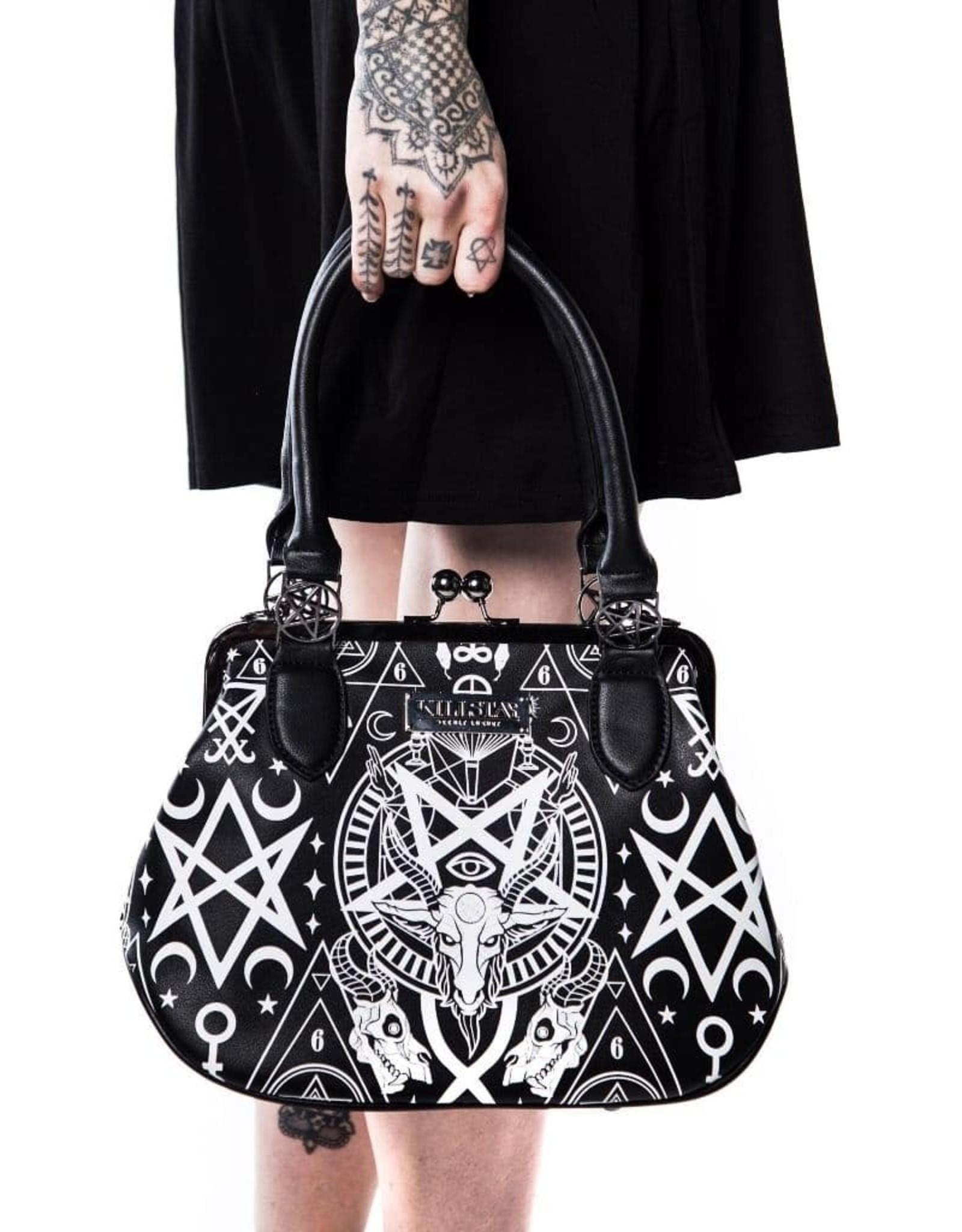Killstar Gothic bags Steampunk bags - Killstar Holly Wouldn't handbag Baphomet
