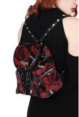 Killstar Gothic tassen Steampunk tassen - Killstar rugtas Eden velours rozen