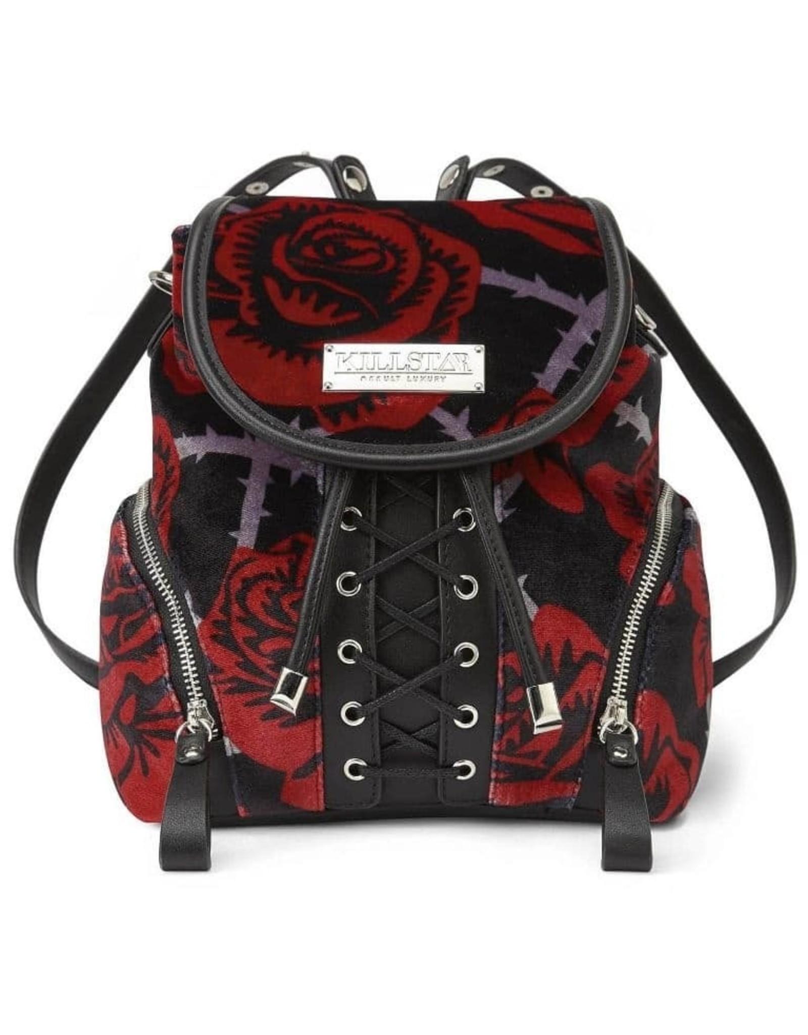 Killstar Gothic bags Steampunk bags - Killstar backpack Eden velours roses