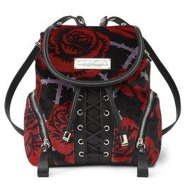 Killstar Killstar backpack Eden velours roses