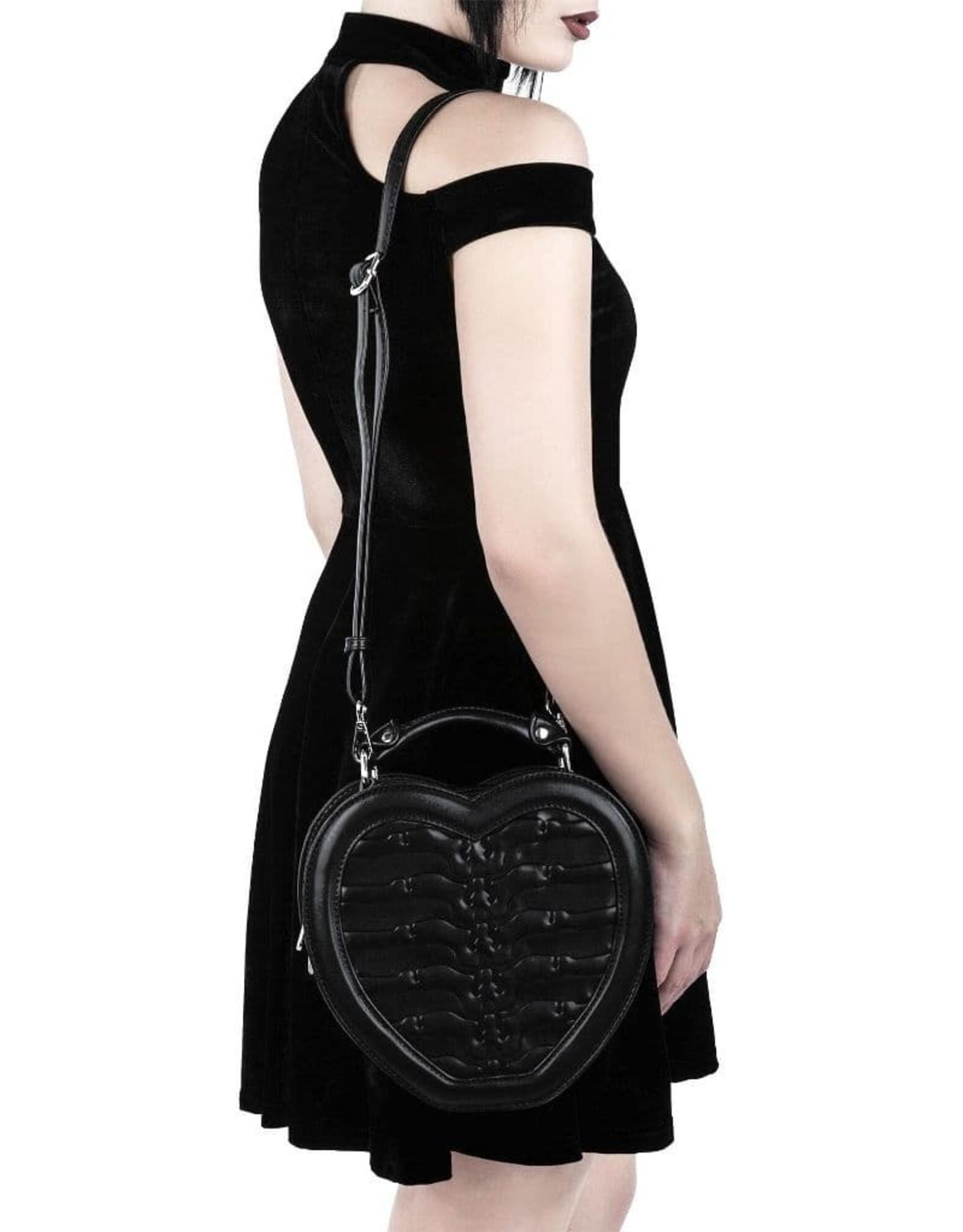 Killstar Gothic bags Steampunk bags - Killstar Black Heartz handbag