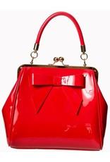 Banned Retro tassen Vintage tassen - Banned 50s lak handtas American Vintage (rood)