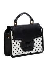 Vintage Retro tassen Vintage tassen - Banned Retro handtas Elegant Spots (zwart-wit)