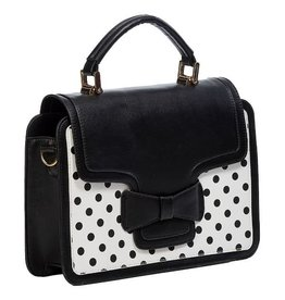 Vintage Banned Retro handbag Elegant Spots (black-white)