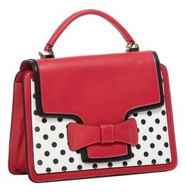 Banned Banned Retro handbag Elegant Spots (red-white)