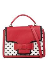 Banned Retro bags  Vintage bags - Banned Retro handbag Elegant Spots (red-white)