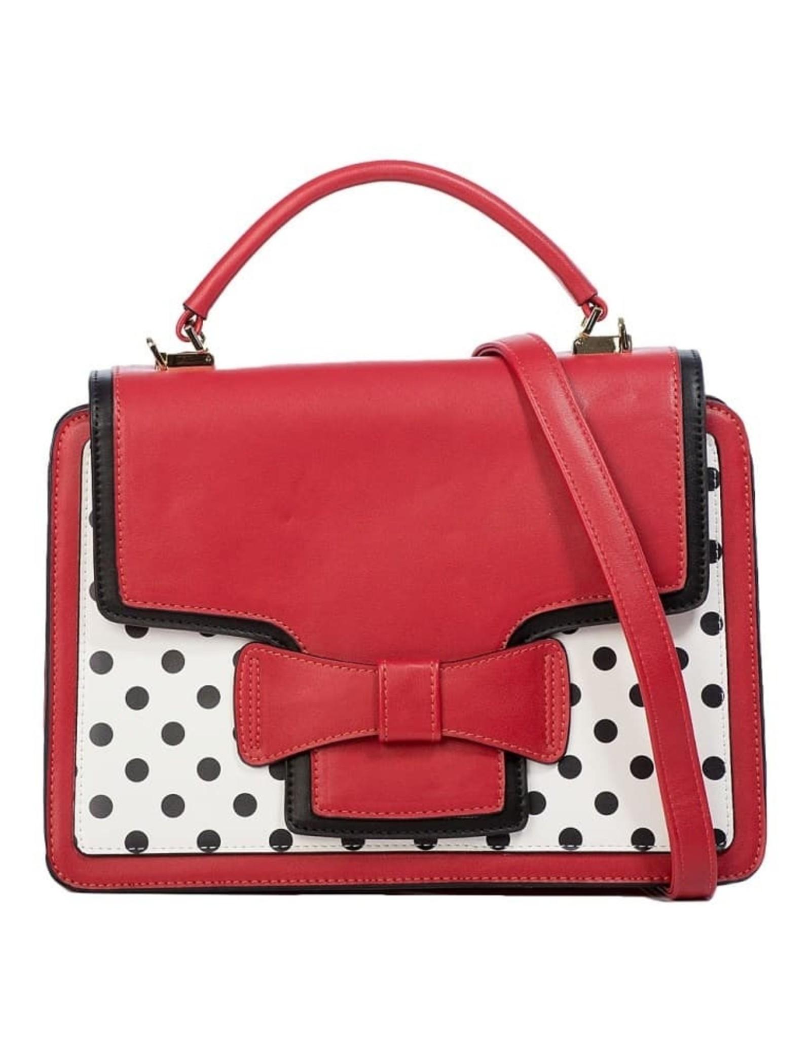Vintage Retro bags  Vintage bags - Banned Retro handbag Elegant Spots (red-white)