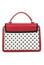 Banned Retro tassen Vintage tassen - Banned Retro handtas Elegant Spots (rood-wit)