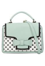 Banned Retro bags  Vintage bags - Banned Retro handbag Elegant Spots (mint-white)
