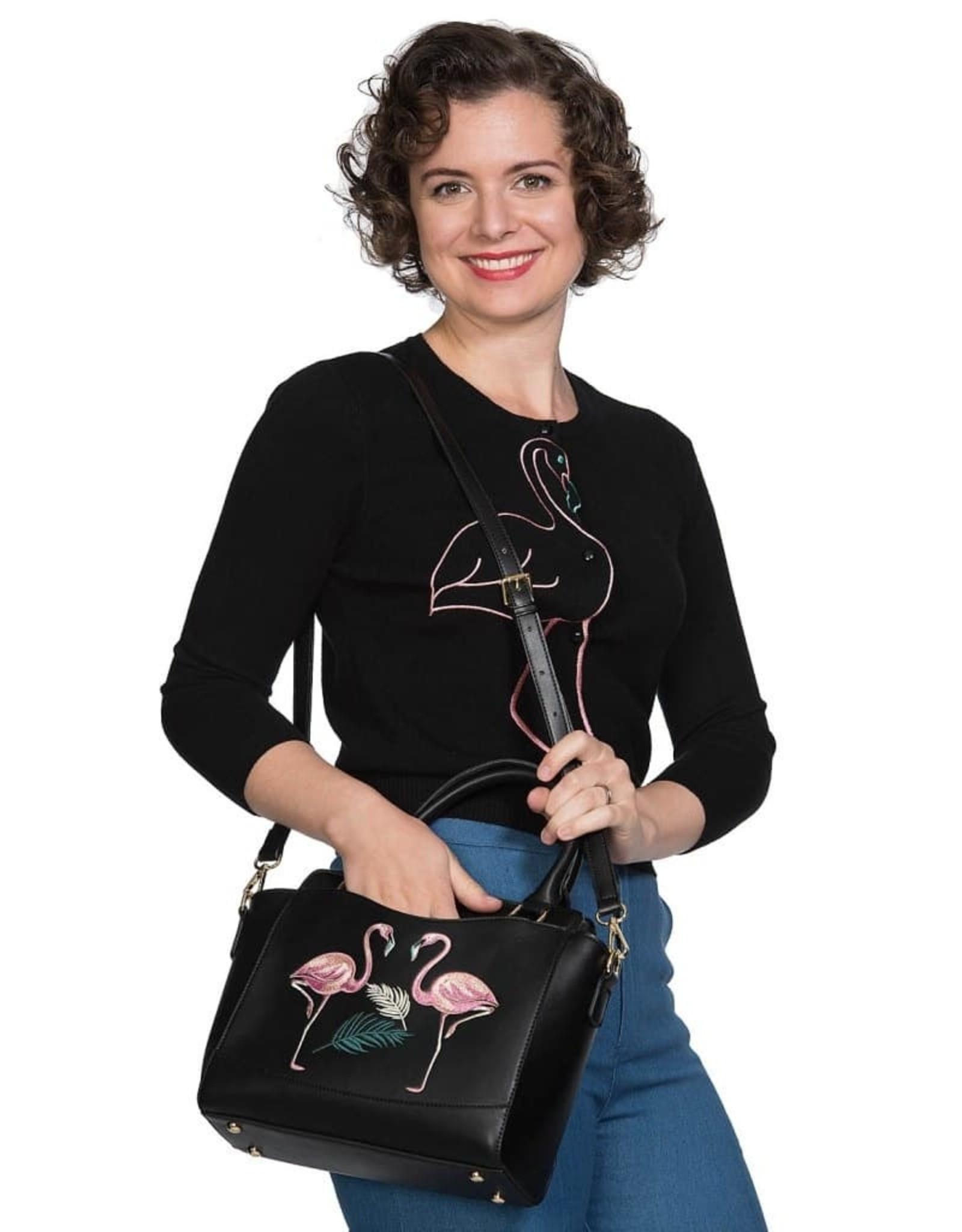 Banned Retro tassen Vintage tassen - Banned Retro handtas Flamingo (zwart)