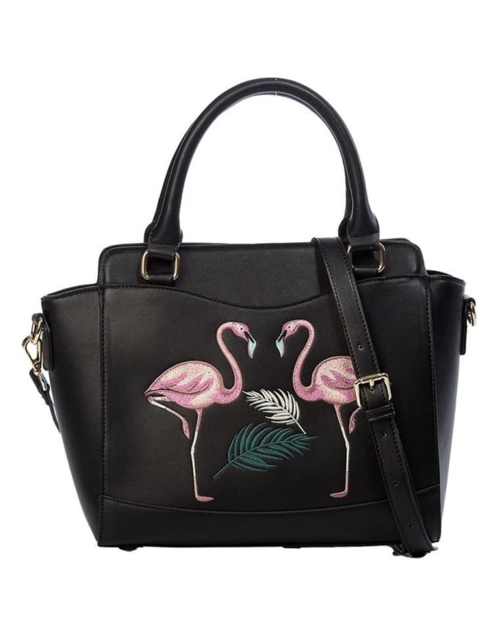 Banned Retro bags  Vintage bags - Banned Retro handbag Flamingo (black)