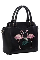 Vintage Retro bags  Vintage bags - Banned Retro handbag Flamingo (black)