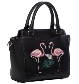 Banned Banned Retro handbag Flamingo (black)