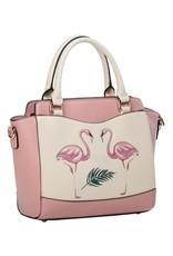 Vintage Retro tassen Vintage tassen - Banned Retro handtas Flamingo (roze)