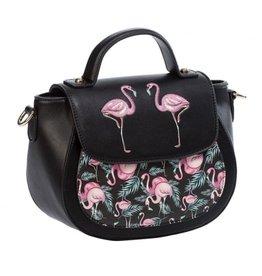 Vintage Banned Retro schoudertas met Flamingo's Malibu