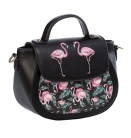Vintage Banned Retro shoulder bag with Flamingos Malibu