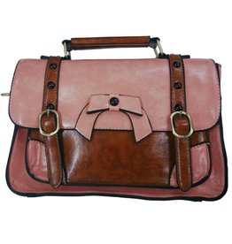 Vintage Banned Retro hand bag with buckles and bow