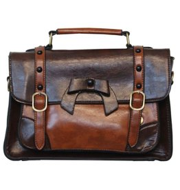Banned Banned Retro hand bag with buckles and bow (d.coffee)