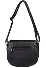 Vintage Retro tassen Vintage tassen - Banned Retro schoudertas Marilou zwart/rood