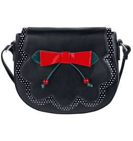 Vintage Banned Retro schoudertas Marilou zwart/rood