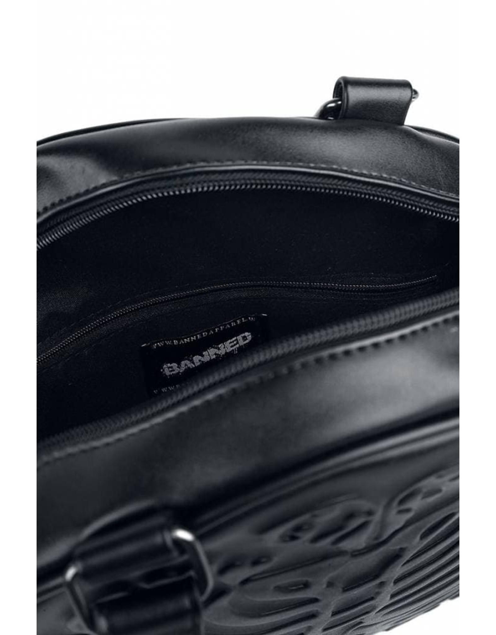 Gothic Gothic tassen Steampunk tassen - Banned Ronde Gothic tas met relief