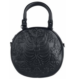 Gothic Banned Ronde Gothic tas  met relief