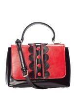 Vintage Retro tassen Vintage tassen - Banned Retro handtas rood/zwart
