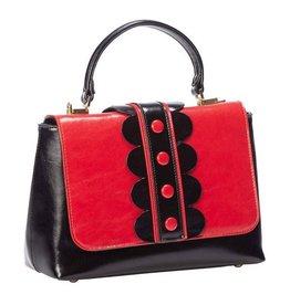 Vintage Banned Retro handtas rood/zwart