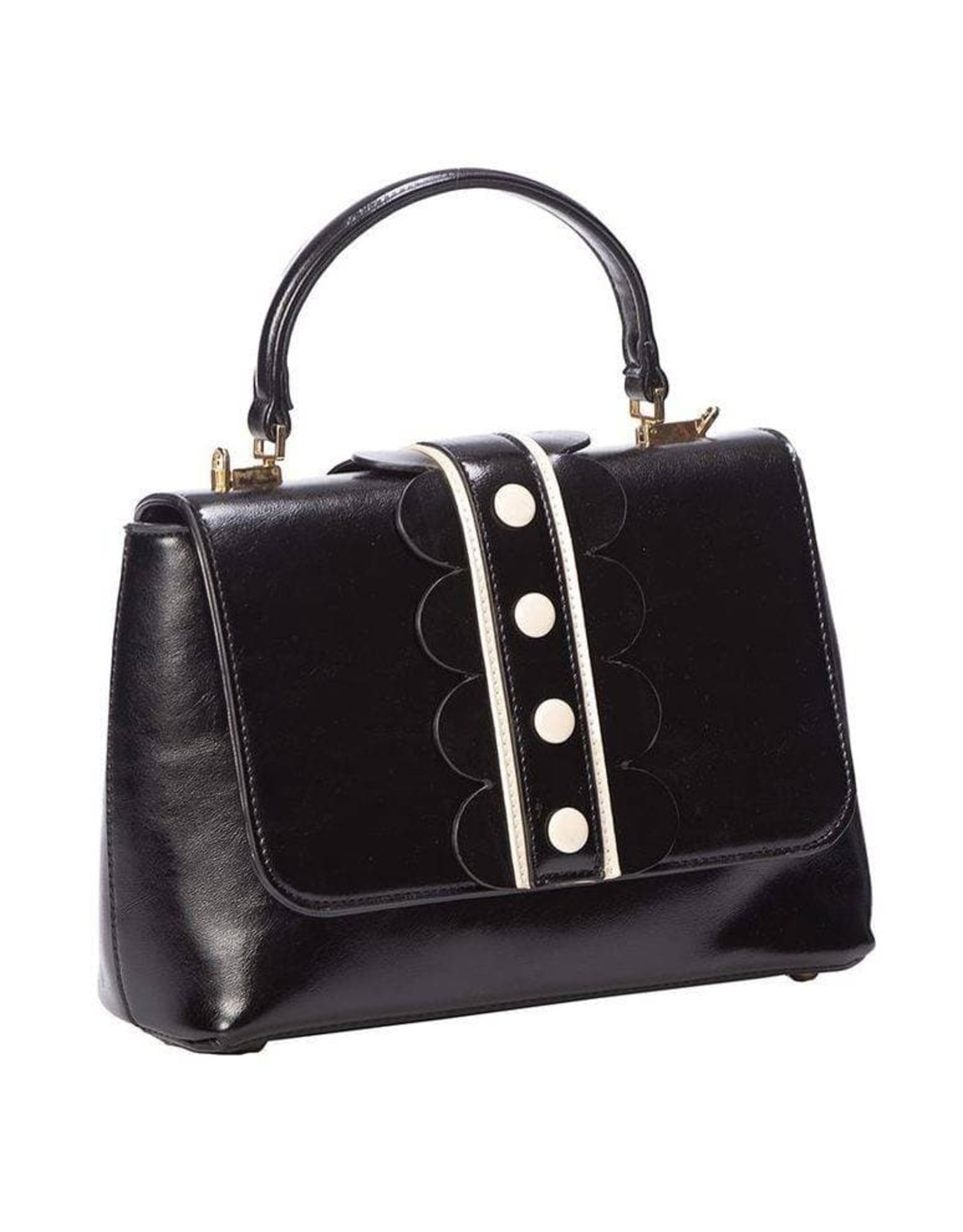 Vintage  Retro tassen Vintage tassen  - Banned Retro handtas zwart/wit