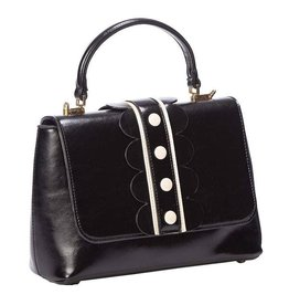 Vintage Banned Retro hand bag black/white