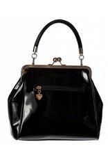 Vintage Retro tassen Vintage tassen - Banned Heartbreaker Retro handtas  zwart/rood