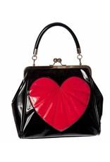 Vintage Retro bags Vintage bags - Banned Heartbreaker Retro hand bag  black/red