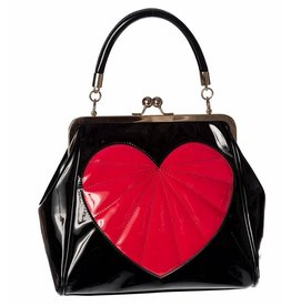 Vintage Banned Heartbreaker Retro handtas  zwart/rood