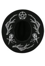 Restyle Gothic en Steampunk accessoires - Pagan Hoed met gewei print - Restyle