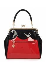 Vintage Retro tassen Vintage tassen - Banned Heartbreaker Retro handtas  rood