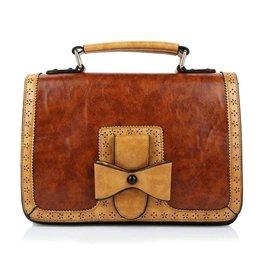 Steampunk Banned Vintage  handbag Scandal (camel)