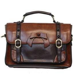 Retro Banned Retro hand bag with buckles en bow (l.coffee)