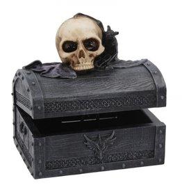 Alator Dark Shroud Bat & Skull Treasure Chest - Nemesis Now