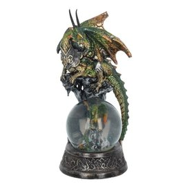 Alator Snowglobe the Mother Dragon protecting her baby - Protection Everlasting - Nemesis Now